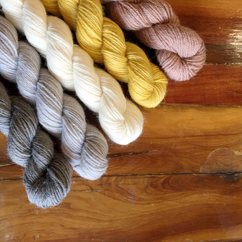 Grellow mini skeins! 100g 4ply Sock