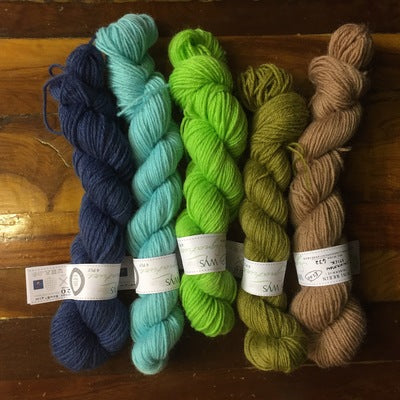 Vlogmas 2017 mini skeins! 100g 4ply Sock