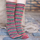 Real Wool Socks- Size S, M, L - Holly berry