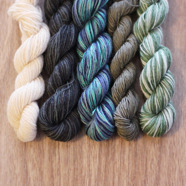 Underwater Lab- Recycled Mini Skeins 50g Sock
