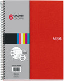Miquelrius 6 X 8 A5 Wirebound Notebook, 6-Subject, Graph Paper