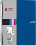 Miquelrius 6 x 8 Wirebound Notebook, 6-Subject, College Ruled