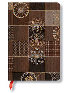 "Paperblanks Writing Journal, Kirikane, Ananda Mini 4"" x 5.5"", 176 unlined pages"
