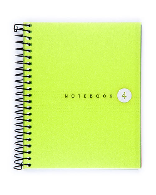 Miquelrius Fresh Spiral Bound Notebook, Green (4.5 x 6, 4-Subject, Graph Paper) 100 SHEETS