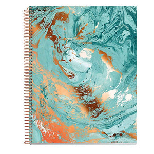 "Miquelrius Large 4 Subject Wirebound Notebook - Hardcover, (120 Sheets-240 Pages, Lined 70 G/M2), 8.5"" x 11"" (Mineral Copper)"