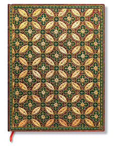 "Paperblanks Writing Journal, Parisian Mosaic, Mosaique Safran Ultra 7"" x 9"", 144 lined pages"