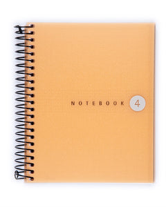 Miquelrius Fresh Spiral Bound Notebook, Orange (4.5 x 6, 4-Subject, Graph Paper) 100 SHEETS
