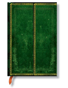 "Paperblanks Writing Journal, Old leather, Jade Mini 4"" x 5.5"", 176 lined pages"