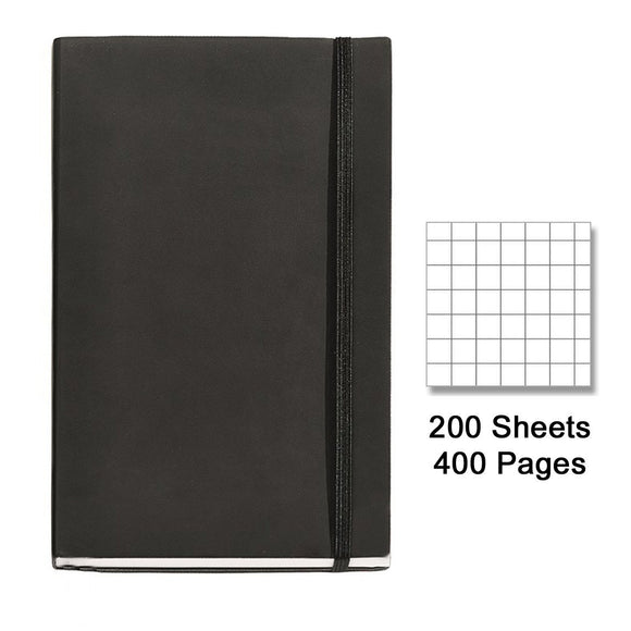 Miquelrius Flexible Handmade Leather Journal, 200 Graph Sheets/400 Pages, (6 x 8)