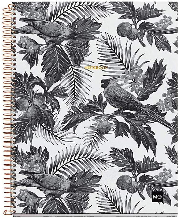 Miquelrius Large 4 Subject Wirebound Notebook - Hardcover, (120 Sheets-240 Pages, Lined 70 G/M2), 8.5