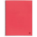 Miquelrius Nordic Colors Large Poly Notebook,  6-Subject, 120 College Ruled Sheets/240 Pages