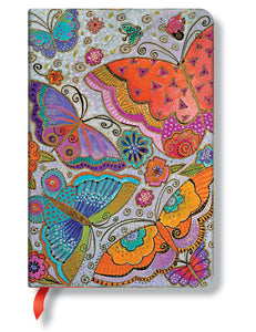 "Paperblanks Writing Journal, Playful Creations, Flutterbyes Mini 4"" x 5.5"", 176 lined pages"