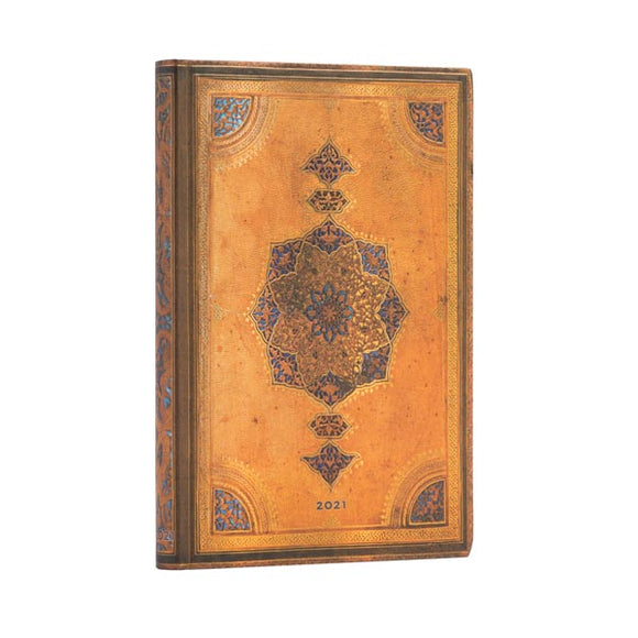 2021 12-Month Safavid Flexi Midi Weekly Planner by Paperblanks (5 x 7 Horizontal)