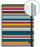 Miquelrius Poly Large Wirebound Notebook, 4-Subject, Graph Ruled, Oslo (8.5 x 11)