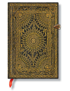 "Paperblanks Writing Journal, Baroque Ventaglio, Ventaglio Marrone Mini 4"" x 5.5"", 240 lined pages"