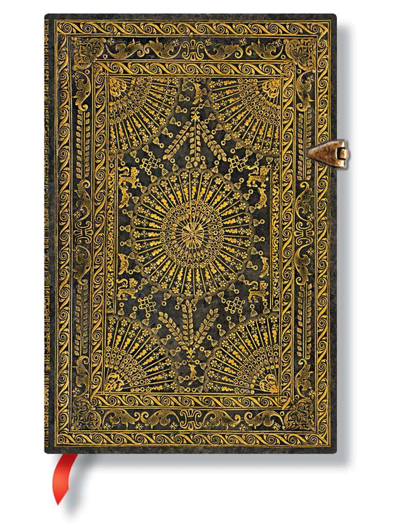 Paperblanks Writing Journal, Baroque Ventaglio, Ventaglio Marrone Mini 4
