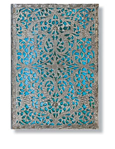Paper Blanks Address Book, Midi Maya Blue (5 x 7)