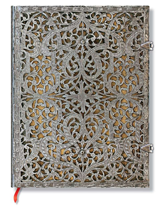 Paperblanks Writing Journal, Silver Filigree, Natural Ultra 7