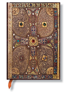 "Paperblanks Writing Journal, Lindau Gospels, Lindau Midi 5"" x 7"", 144 lined pages"