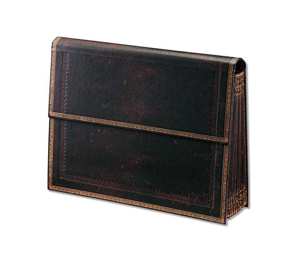 Paperblanks Accordion-Style Expandable File Folder, Black Moroccan, 13