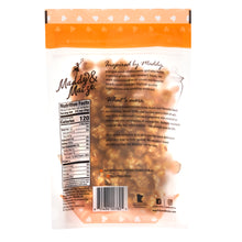 Image of the back of one six ounce package of Old-Fashioned Caramel popcorn. Contains nutrition facts panel and marketing copy found in the product description.