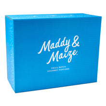 image of blue cardboard shipper box used to ship 1 gift box.