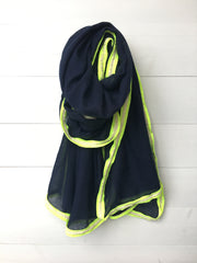 Neon rope trim scarf