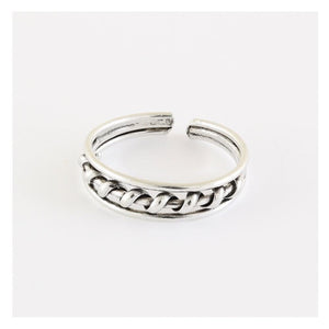 Toe Ring Coil Band, Sterling Silver