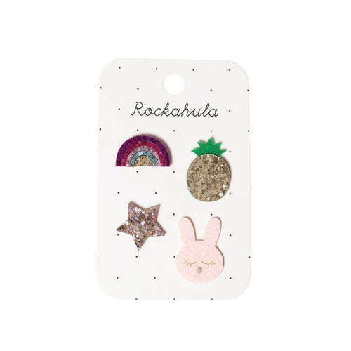 Rockahula Kids Badge Set, Rainbow