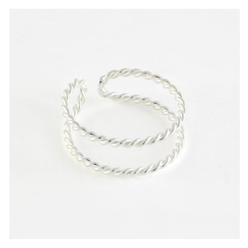 Toe Ring Double Twist, Sterling Silver