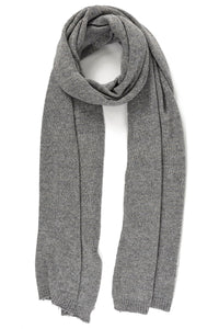 Gold Thread Cashmere Wool Blend Scarf, Medium Grey