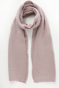 Gold Thread Cashmere Wool Blend Scarf, Dusty Pink