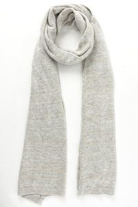 Gold Thread Cashmere Wool Blend Scarf, Light Grey
