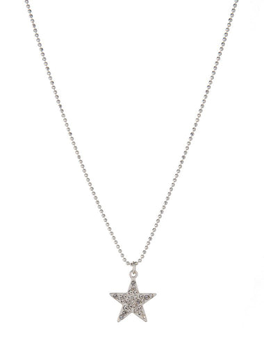 Olia Melissa Crystal Star Necklace, Silver
