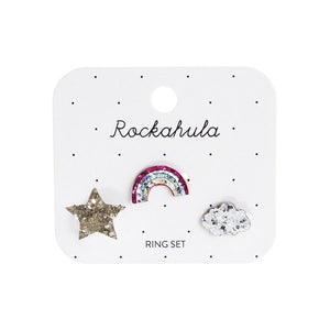 Rockahula Kids Ring Set, Rainbow