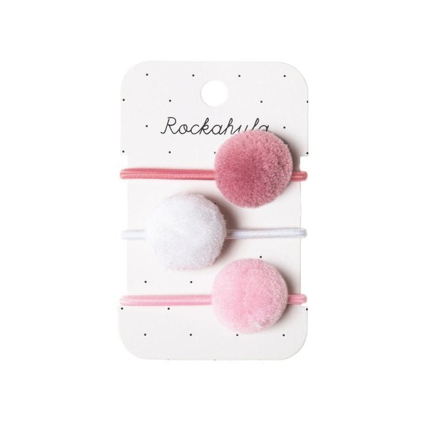 Rockahula Kids Hair Bobble Set, Pink Pom Poms