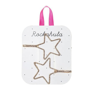 Rockahula Kids Cut Out Glitter Star Slides, Gold