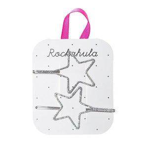 Rockahula Kids Cut Out Glitter Star Slides, Silver