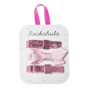 Rockahula Kids Twisted Grosgrain Bow Clips, Pink