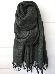 Plain Winter Scarf, Khaki