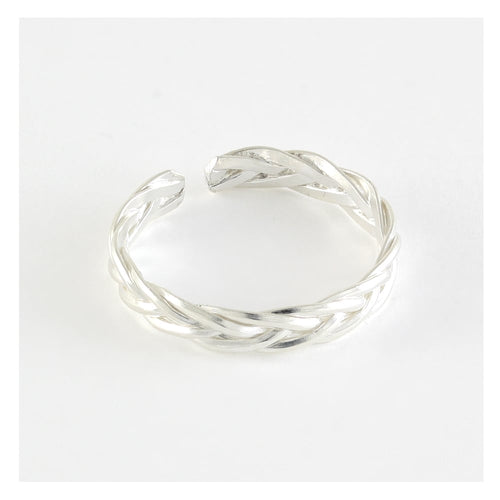 Toe Ring Plaited, Sterling Silver