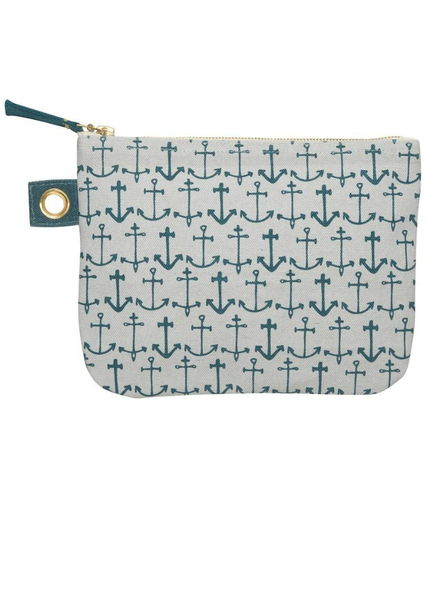 Danica Large Zipper Pouch, Seven Seas