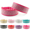 5 Row Rhinestone Leather Dog Collar