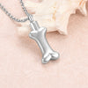 Crystal Dog Bone Urn Locket