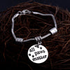 """All Paws Matter"" PENDANTS CHARM BRACELET"