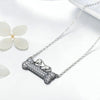 Doggy's Dream Crystal Bone Pendant Necklace (Sterling Silver)