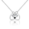 Pooch Face Pendant Necklace (Sterling Silver)