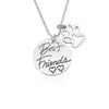 Best Friends Heart / Dog Paw - Pendant Necklace