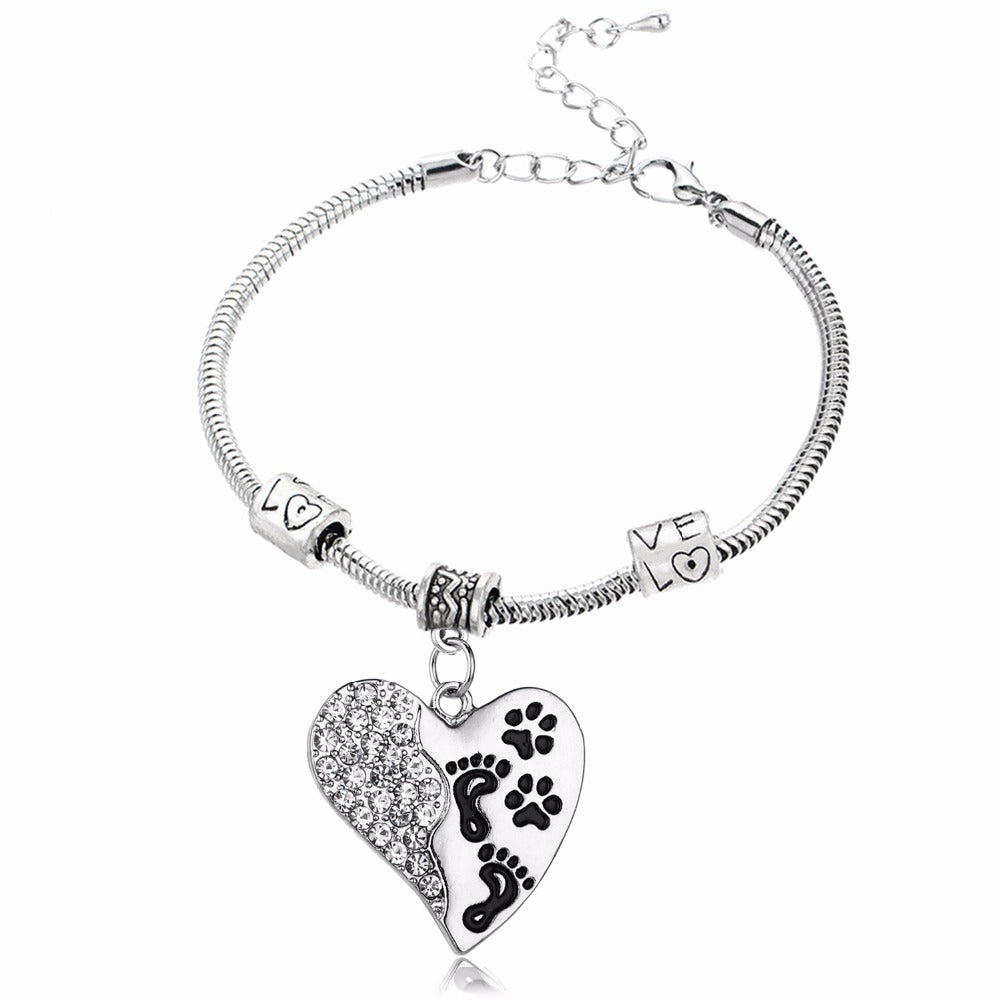 No longer by my side but forever in my heart pendant bracelet pup no longer by my side but forever in my heart pendant bracelet aloadofball Images