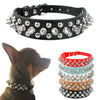 Studded PU Leather Dog Collars